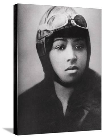 Bessie Coleman (1892-1926), Was an Early African American Pilot--Stretched Canvas Print