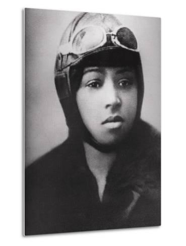 Bessie Coleman (1892-1926), Was an Early African American Pilot--Metal Print