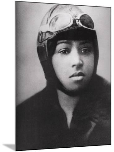 Bessie Coleman (1892-1926), Was an Early African American Pilot--Mounted Photo