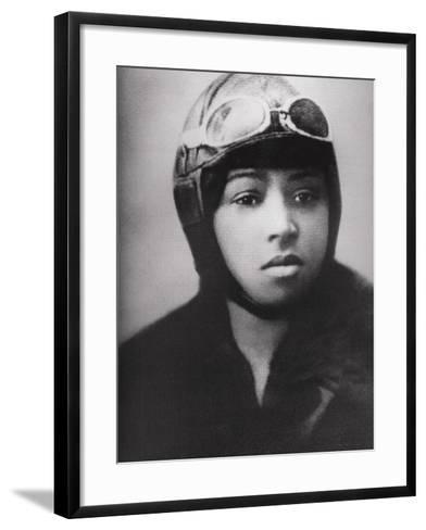 Bessie Coleman (1892-1926), Was an Early African American Pilot--Framed Art Print