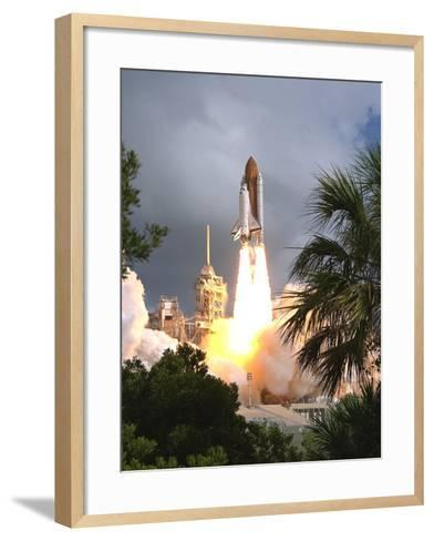 Space Shuttle Endeavour Launch Was the 57th Space Shuttle Mission, June 21,1993--Framed Art Print