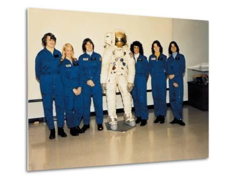 First Class of Female Astronauts Who Completed Training in 1979--Metal Print