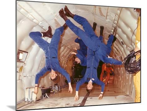 Space Shuttle Astronauts in Zero Gravity Training--Mounted Photo