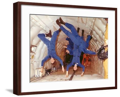 Space Shuttle Astronauts in Zero Gravity Training--Framed Art Print