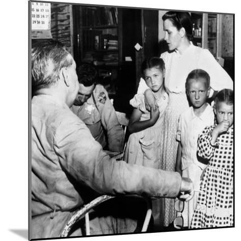 Mrs John Barlow Under Arrest--Mounted Photo