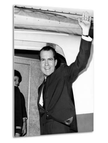 Former Vice Pres Nixon, Heading for Tokyo and Hong Kong on Business for NY Law Firm, Nov 13, 1964--Metal Print