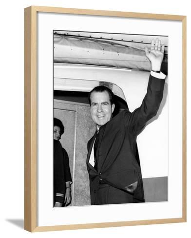Former Vice Pres Nixon, Heading for Tokyo and Hong Kong on Business for NY Law Firm, Nov 13, 1964--Framed Art Print
