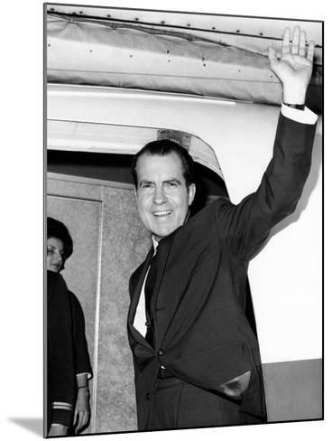 Former Vice Pres Nixon, Heading for Tokyo and Hong Kong on Business for NY Law Firm, Nov 13, 1964--Mounted Photo