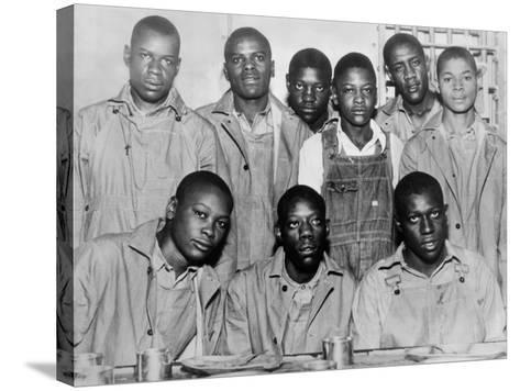 'Scottsboro Boys' in Jefferson County Jail, Birmingham--Stretched Canvas Print
