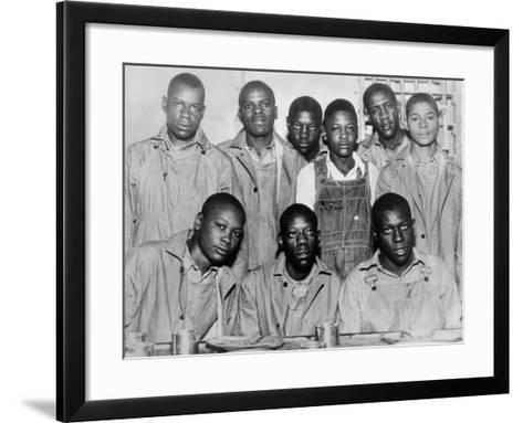 'Scottsboro Boys' in Jefferson County Jail, Birmingham--Framed Art Print