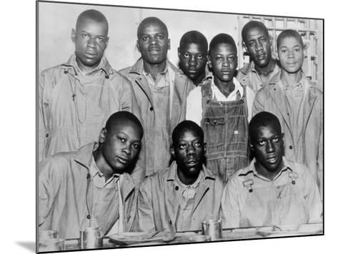 'Scottsboro Boys' in Jefferson County Jail, Birmingham--Mounted Photo