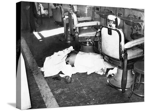 Racketeer Albert Anastasia, Lord High Executioner for Murder, Inc, Dead at Park-Sheraton Hotel--Stretched Canvas Print