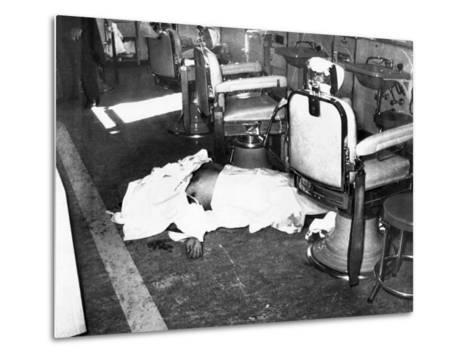 Racketeer Albert Anastasia, Lord High Executioner for Murder, Inc, Dead at Park-Sheraton Hotel--Metal Print