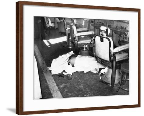 Racketeer Albert Anastasia, Lord High Executioner for Murder, Inc, Dead at Park-Sheraton Hotel--Framed Art Print