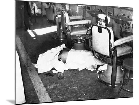 Racketeer Albert Anastasia, Lord High Executioner for Murder, Inc, Dead at Park-Sheraton Hotel--Mounted Photo