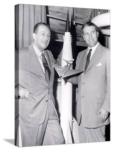 Dr Werhner Von Braun with Walt Disney--Stretched Canvas Print