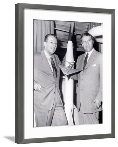 Dr Werhner Von Braun with Walt Disney--Framed Art Print