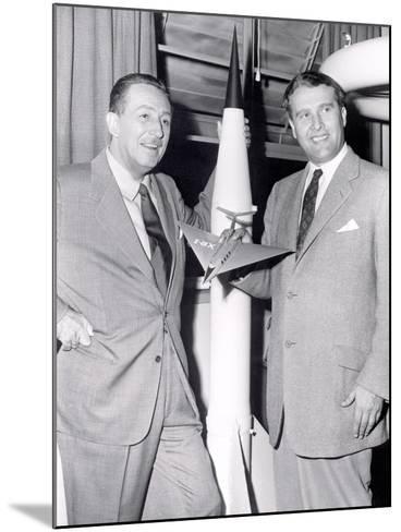 Dr Werhner Von Braun with Walt Disney--Mounted Photo