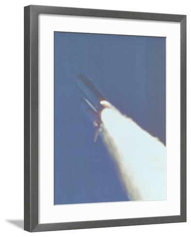 Space Shuttle Challenger Disaster--Framed Art Print