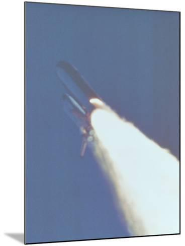 Space Shuttle Challenger Disaster--Mounted Photo
