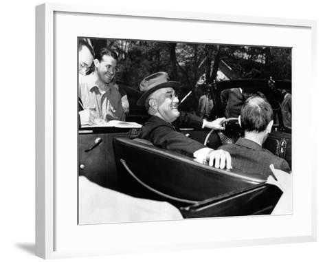 President Franklin Roosevelt, Debonair with His Cigarette Holder--Framed Art Print