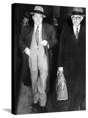 New York Organized Crime Boss, Frank Costello (Left), with His Lawyer, George Wolf--Stretched Canvas Print