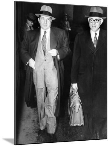 New York Organized Crime Boss, Frank Costello (Left), with His Lawyer, George Wolf--Mounted Photo