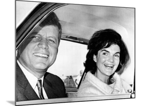 President and Jacqueline Kennedy in Palm Beach, Florida--Mounted Photo