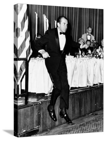 Pres Richard Nixon at Memorial Dinner in Honor of Late Pres Dwight D Eisenhower, Oct 14, 1969--Stretched Canvas Print