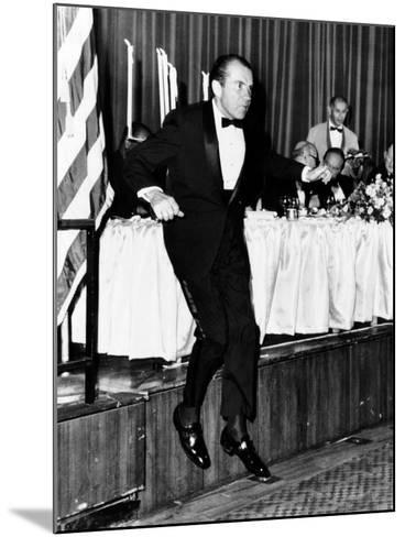 Pres Richard Nixon at Memorial Dinner in Honor of Late Pres Dwight D Eisenhower, Oct 14, 1969--Mounted Photo