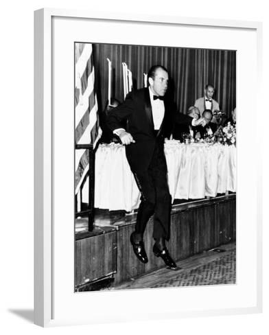 Pres Richard Nixon at Memorial Dinner in Honor of Late Pres Dwight D Eisenhower, Oct 14, 1969--Framed Art Print