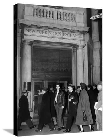 Entrance of the New York Stock Exchange, Jan 21, 1955--Stretched Canvas Print