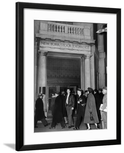Entrance of the New York Stock Exchange, Jan 21, 1955--Framed Art Print