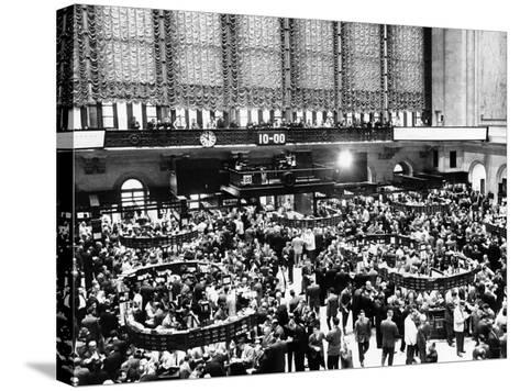 New York Stock Exchange During Heavy Trading on Oct 23, 1962--Stretched Canvas Print