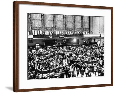 New York Stock Exchange During Heavy Trading on Oct 23, 1962--Framed Art Print