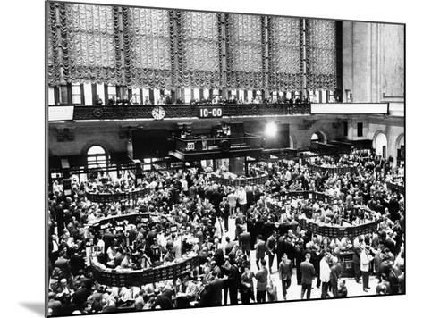 New York Stock Exchange During Heavy Trading on Oct 23, 1962--Mounted Photo