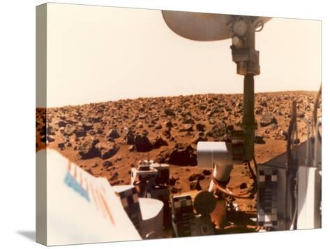 Viking 1 on the Martian Surface on July 24, 1976--Stretched Canvas Print