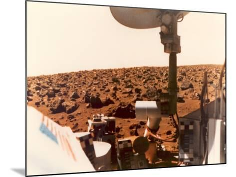 Viking 1 on the Martian Surface on July 24, 1976--Mounted Photo