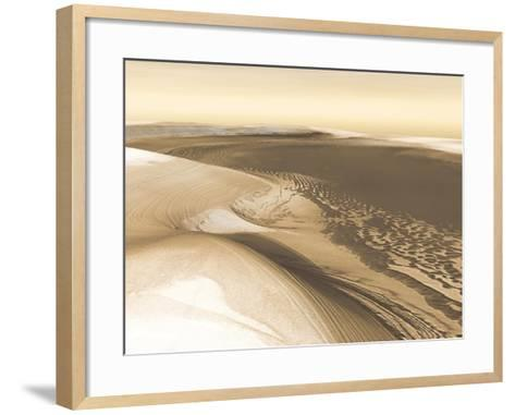 Martian Landscape Image from NASA's Mars Odyssey Orbiter--Framed Art Print