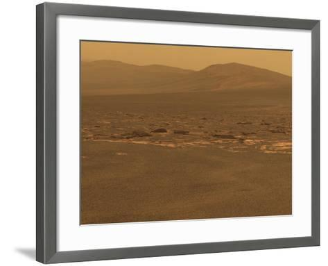 NASA's Mars Exploration Rover 'Opportunity' Recorded This Image on Aug 6, 2011--Framed Art Print