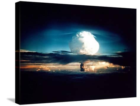 The Mike Shot, Was the First Successful Full-Scale Test Hydrogen Bomb, on Oct 31, 1952--Stretched Canvas Print