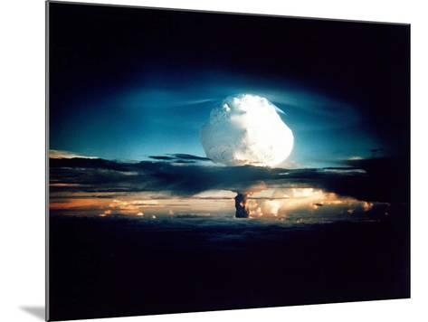 The Mike Shot, Was the First Successful Full-Scale Test Hydrogen Bomb, on Oct 31, 1952--Mounted Photo