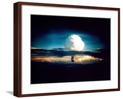 The Mike Shot, Was the First Successful Full-Scale Test Hydrogen Bomb, on Oct 31, 1952--Framed Art Print