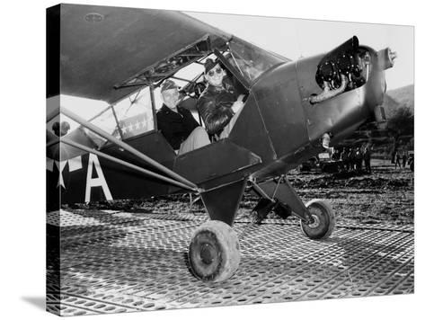 General Dwight Eisenhower, About to Fly to the Front Lines in Italy During World War II, 1943--Stretched Canvas Print