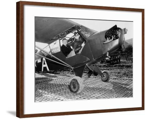 General Dwight Eisenhower, About to Fly to the Front Lines in Italy During World War II, 1943--Framed Art Print