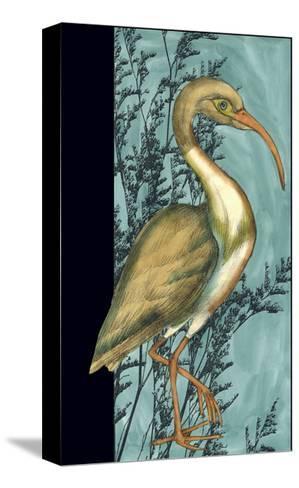 Heron in the Grass I-Jennifer Goldberger-Stretched Canvas Print