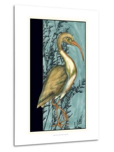 Heron in the Grass I-Jennifer Goldberger-Metal Print