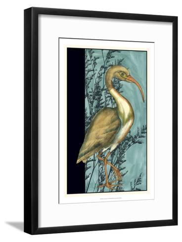 Heron in the Grass I-Jennifer Goldberger-Framed Art Print