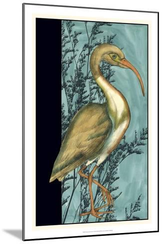 Heron in the Grass I-Jennifer Goldberger-Mounted Art Print