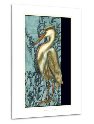 Heron in the Grass II-Jennifer Goldberger-Metal Print